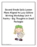 2nd Grade Daily Lesson Plans Aligned to Lucy Calkins Writing Workshop Unit 4