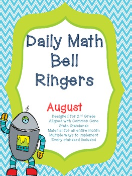 2nd Grade Daily Math Bellringers for August - Aligned with CCSS - Morning Work