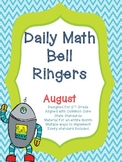 2nd Grade Daily Math Bellringers for August - Aligned with