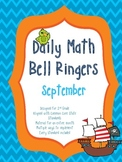2nd Grade Daily Math Bellringers for September - CCSS aligned - Morning Work