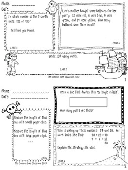 2nd Grade Daily Math Bellringers for September - CCSS aligned - Morning Work