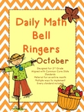 2nd Grade Daily Math Bellringers for October-CCSS aligned- Morning Work
