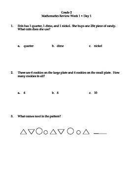 2nd Grade Daily Math FREEBIE