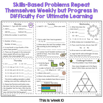 2nd Grade Daily Math Morning Work - 2nd Quarter