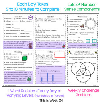2nd Grade Daily Math Morning Work - 3rd Quarter