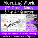 Math Morning Work for 2nd Grade - 3rd and 4th quarter (Distance Learning option)