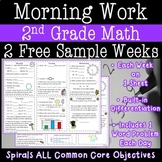 2nd Grade Math Morning Work - Two FREE Weeks