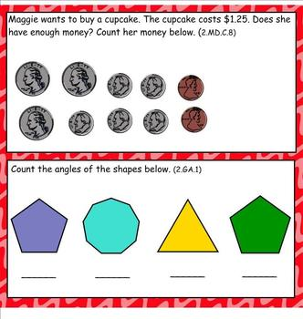 2nd Grade Daily Math Review: Common Core Aligned-February Edition