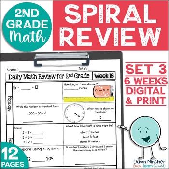 2nd Grade Morning Work   2nd Grade Spiral Math Review   Set 3 (6 weeks)