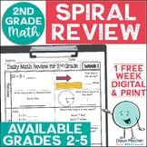 2nd Grade Math Review | 2nd Grade Morning Work | 1-week FREE