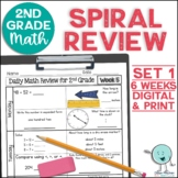 2nd Grade Math Review | 2nd Grade Morning Work | Set 1 (6 weeks)