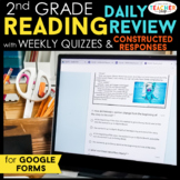 2nd Grade Reading Spiral Review DIGITAL Google Classroom | Reading Comprehension