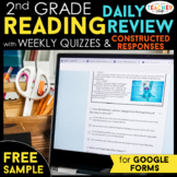 2nd Grade DIGITAL Reading Comprehension Practice & Quizzes | Google Forms | FREE