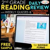 2nd Grade DIGITAL Reading Comprehension Practice Spiral Re