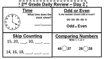 2nd Grade Daily Review - FREE