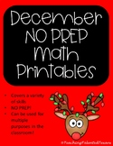 2nd Grade December NO PREP MATH Printable