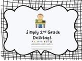 2nd Grade Desktags Common Core Standards
