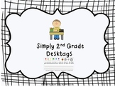 2nd Grade Desktags Common Core Standards