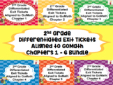 2nd Grade Differentiated Exit Tickets Aligned to GoMath Bundle Chapters 1 - 6