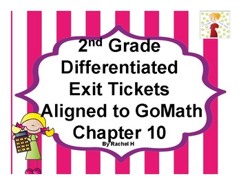 2nd Grade Differentiated Exit Tickets Aligned to GoMath Chapter 10