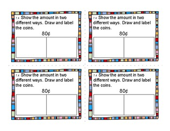 2nd Grade Differentiated Exit Tickets Aligned to GoMath Chapter 7