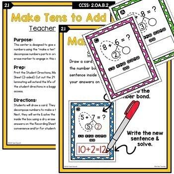 2nd Grade Differentiated Math Worksheets Bundle