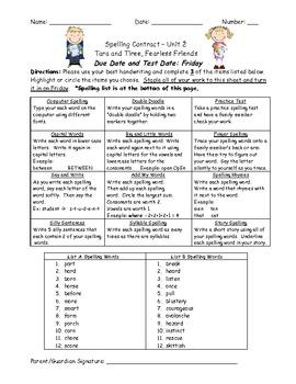 Reading Street 2008 2nd Grade Differentiated Spelling Homework Unit 2 (L.2.2.d)