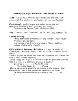 2nd Grade Differentiated Social Studies Lesson Plans
