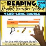 2nd Grade Digital Interactive Reading Notebooks   Year-Lon