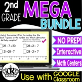 2nd Grade Digital Math Activities MEGA BUNDLE Google Class