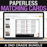 2nd Grade Digital Math Centers - Paperless Matching Cards