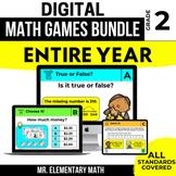 2nd Grade Digital Math Games Bundle | Distance Learning |