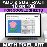 2nd Grade Digital Math Pixel Art Activity - Add & Subtract 10 or 100 2.NBT.8