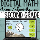 2nd Grade Digital Math Review Game for Test Prep on Google Slides & PowerPoint
