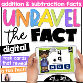 Digital Addition & Subtraction Facts Task Cards Game for G