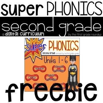 2nd Grade Digital Phonics Curriculum FREEBIE