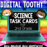 2nd Grade Digital Science Toothy ® Task Cards Bundle   Distance Learning Games