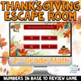 2nd Grade Digital Thanksgiving Math Escape Room Games   Ba