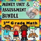 2nd Grade Distance Learning Math BUNDLE: Money Unit and As