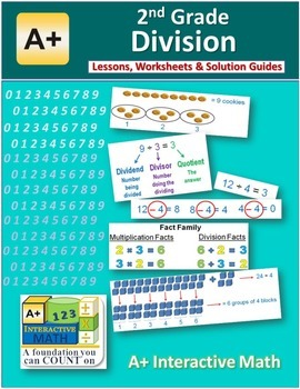 2nd Grade Division Lessons, Worksheets, Solution Manuals