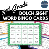 2nd Grade Dolch Sight Word BINGO Card Printable: Includes