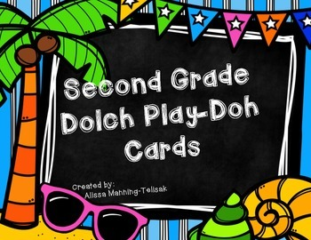 2nd Grade Dolch Play-Doh Cards