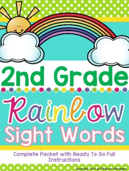 Second Grade Dolch Rainbow Sight Words (Complete Set)