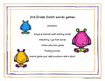 2nd Grade Dolch Sight Word Activities