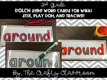 2nd Grade Dolch Sight Word Cards for Wikki Stix, Play-Doh, and Tracing!