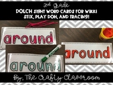 2nd Grade Dolch Sight Word Cards for Wikki Stix, Play-Doh,