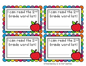 2nd Grade Dolch Sight Word Flashcards and Student Certificates