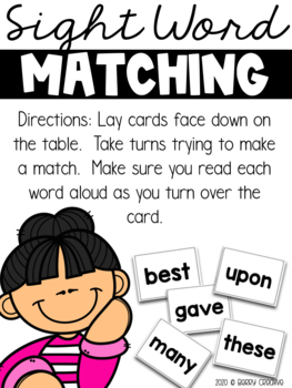 2nd Grade Dolch Sight Word Packet