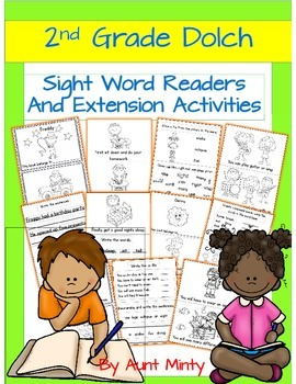 Pre-k - 2nd Sight Word Readers, Activities, Homework Using