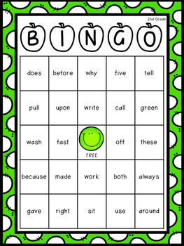 2nd Grade Dolch Sight Word Resource Pack